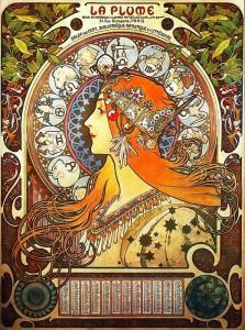 la-plume-zodiac-alphonse-mucha